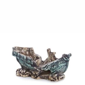 Malý vrak lodě, keramická akvarijní dekorace
