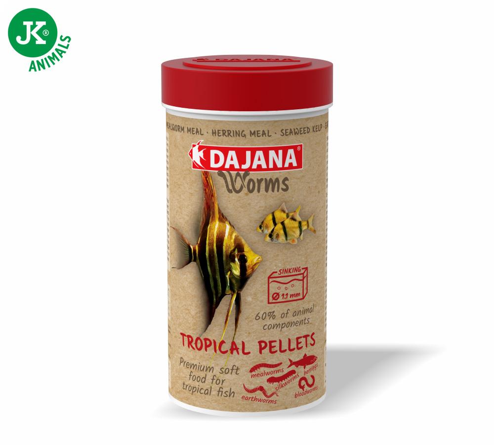 Dajana Worms Tropical pellets 250ml | © copyright jk animals, všechna práva vyhrazena