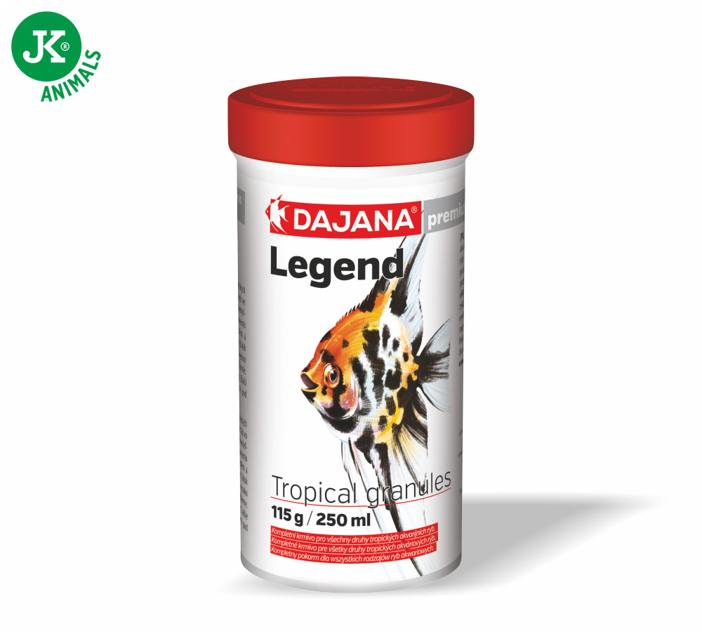 Dajana Legend Premium – Tropical granules, 100ml   © copyright jk animals, všechna práva vyhrazena