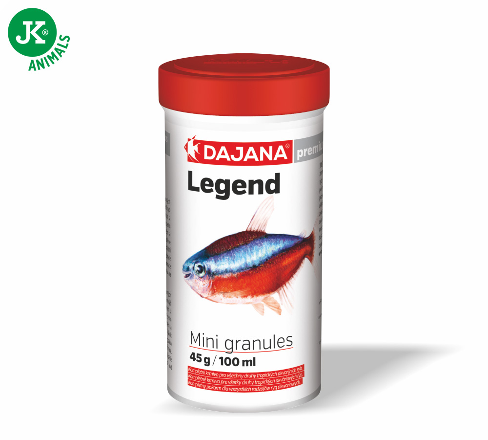 Dajana Legend Premium – Mini granules, 100ml | © copyright jk animals, všechna práva vyhrazena