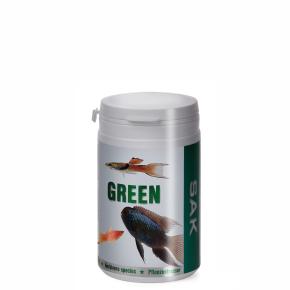 SAK green, 300ml, vel.2, pro rybky: 5–7cm, krmivo (granule) pro ryby