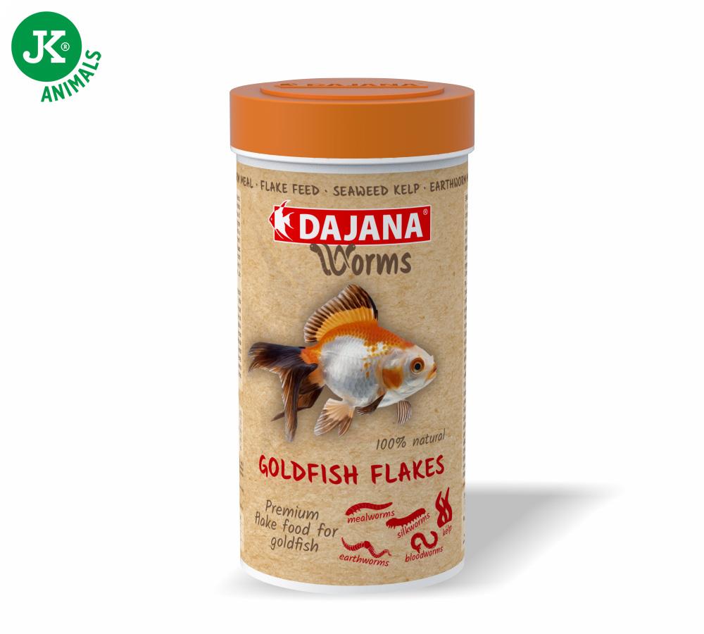 Dajana Worms Goldfish flakes 250ml vločky   © copyright jk animals, všechna práva vyhrazena