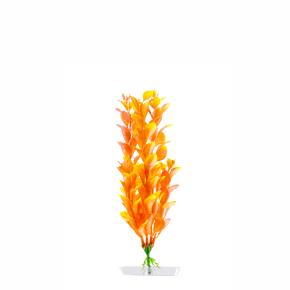 Orange Ludwigia malá, akvarijní plastová rostlinka