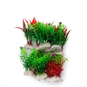 MIX small, akvarijní plastová rostlinka