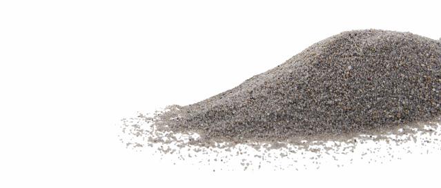 Křemičitý písek šedý, hrubost: 0,3–1,4 mm, balení: 2kg