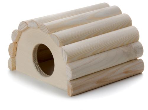 Dřevěné iglú křeček | © copyright jk animals, všechna práva vyhrazena