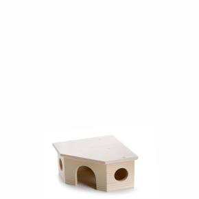 Dřevěný rohový domek pro křečky