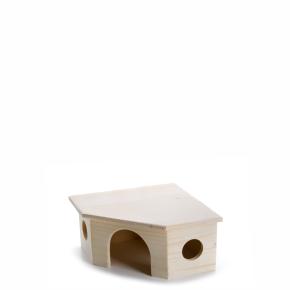 Dřevěný rohový domek pro morčata