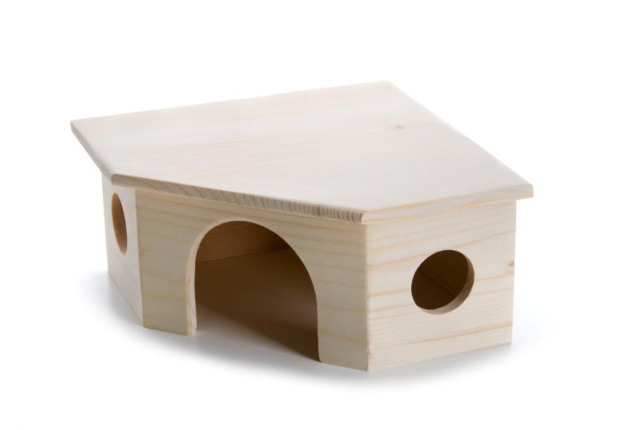 Dřevěný rohový domek morče | © copyright jk animals, všechna práva vyhrazena