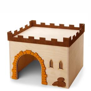 Hrad č.4, dřevěný domek pro králíky