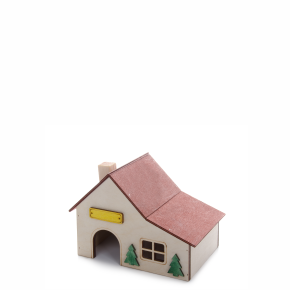 Domek s přístavbou, dřevěný domek pro hlodavce