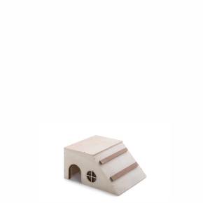 Domek šikmý křeček, dřevěný domek pro hlodavce