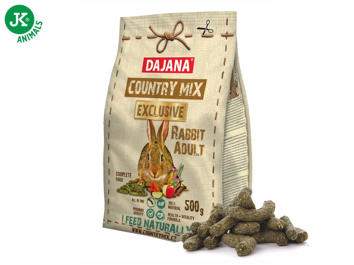 Dajana – COUNTRY MIX EXCLUSIVE, Rabbit Adult (králík) 500g | © copyright jk animals, všechna práva vyhrazena