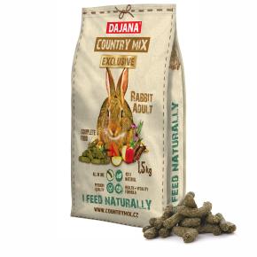 Dajana – COUNTRY MIX EXCLUSIVE, králík 1500g, krmivo prokrálíky