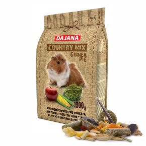 Dajana – COUNTRY MIX, Morče 1000 g, krmivo promorčata