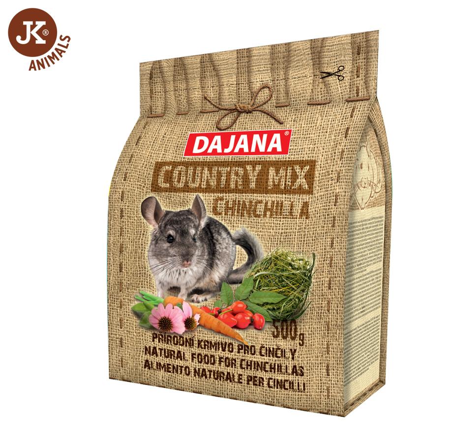 Dajana – COUNTRY MIX, Chinchilla (činčila) 500g | © copyright jk animals, všechna práva vyhrazena