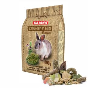 Dajana – COUNTRY MIX, Rabbit 1000 g, krmivo prokrálíky