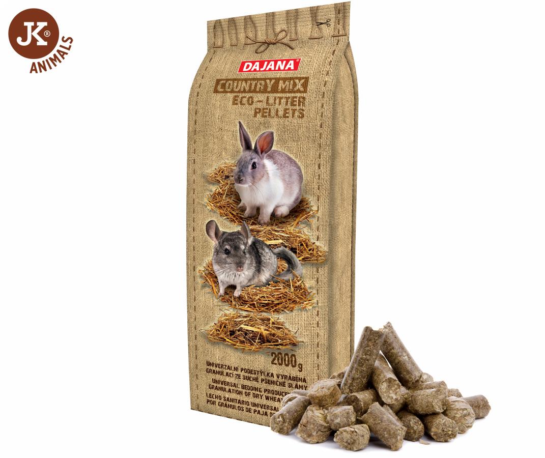 Dajana – COUNTRY MIX, Eco – litter pellets 2kg | © copyright jk animals, všechna práva vyhrazena