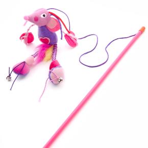 Plyšová myš na prutě, hračka