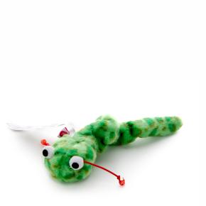 Zelený natahovací had, plyšová hračka