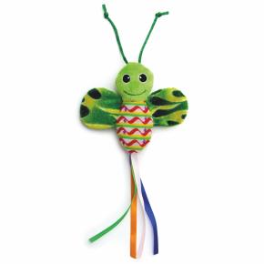 Zelený šustící motýl, hračka