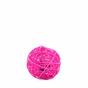 Růžová ratanová koule srolničkou, hračka