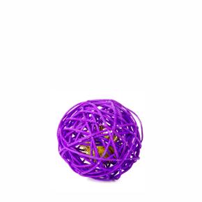 Fialová ratanová koule srolničkou, hračka