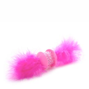 Růžová TPR činka spírkem, hračka