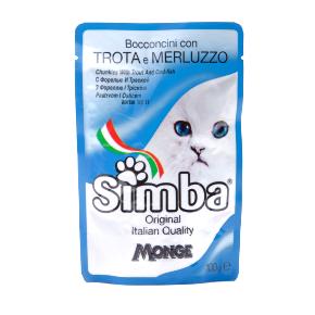 Simba Cat – pstruh a treska, masová kapsička