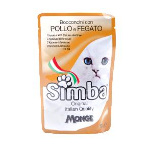Simba Cat – kuřecí maso a játra, masová kapsička