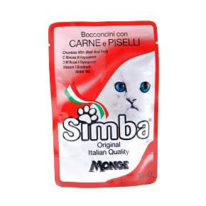 Simba Cat – maso a hrášek, masová kapsička