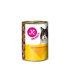 JK masová konzerva pro kočky s kuřecím masem 415g