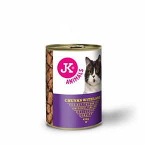 JK masová konzerva pro kočky s jehněčím masem 415g
