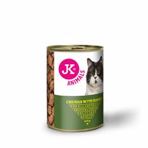 JK masová konzerva pro kočky s králičím masem 415g