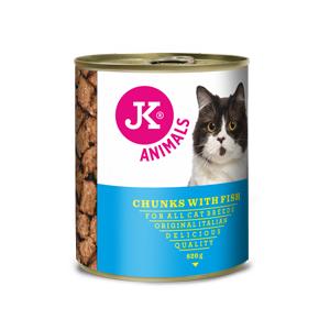 JK masová konzerva pro kočky s rybím masem 820g