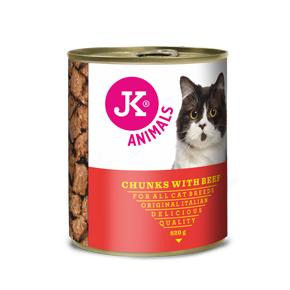 JK masová konzerva pro kočky s hovězím masem 820g