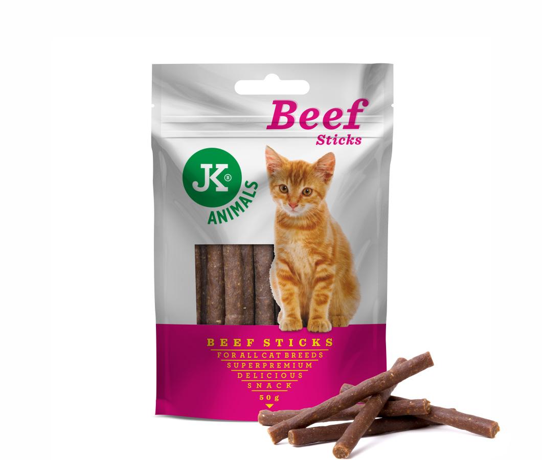 JK SUPERPREMIUM MEAT SNACK CAT Beef Sticks, masový pamlsek | © copyright jk animals, všechna práva vyhrazena