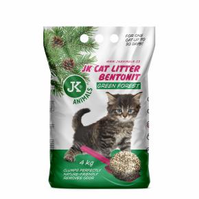 JK CAT zelený les - hrudkující podestýlka, kočkolit 4,5kg