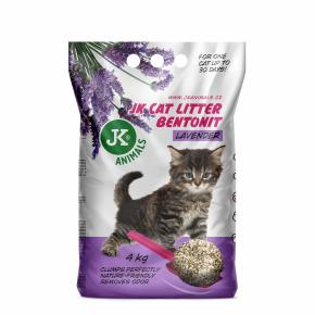 JK CAT levandule - hrudkující podestýlka, kočkolit 4kg