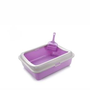 Plastová kočičí toaleta (WC) sokrajemalopatkou