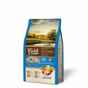 Sams Field 4300 Power Chicken & Potato, superprémiové granule 2,5 kg (Sam's Field)