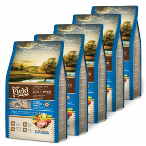 Sams Field 4300 Power Chicken & Potato, superprémiové granule 5× 2,5 kg (Sam's Field)