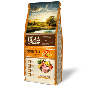 Sams Field Adult High Meat & Grain Free, superprémiové granule 13 kg (Sam's Field)