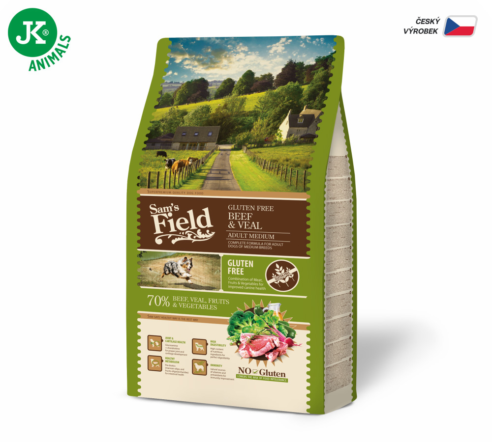 Sam's Field Gluten Free Adult Medium Beef & Veal | © copyright jk animals, všechna práva vyhrazena
