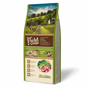 Sams Field Gluten Free Adult Medium Beef & Veal, superprémiové granule 13 kg (Sam's Field)