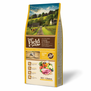 Sams Field Gluten Free Adult Large Goose & Turkey, superprémiové granule 13kg (Sam's Field)