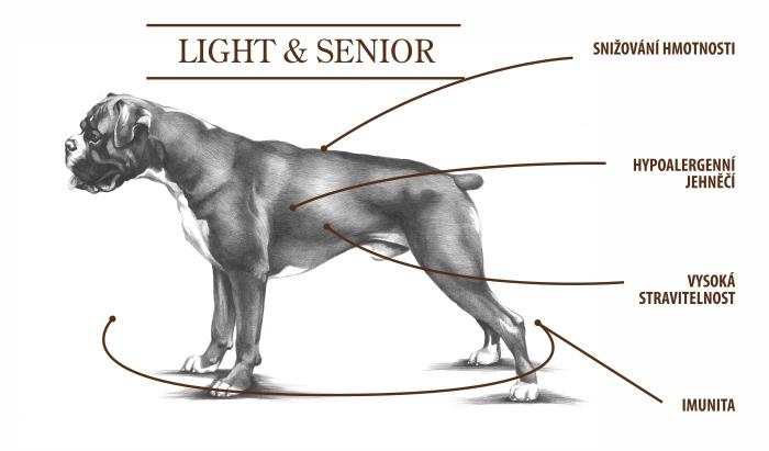 light & senior tabulka