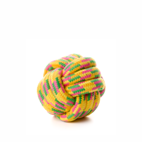 Bavlněný proplétaný míč 10cm, bavlněná hračka