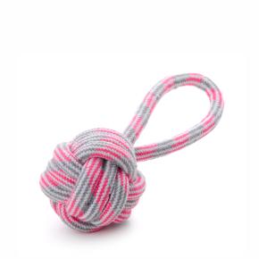 Bavlněné přetahovadlo růžové, bavlněná hračka