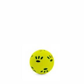 Gumový žlutý míček - tlapky 5,7 cm, gumová hračka
